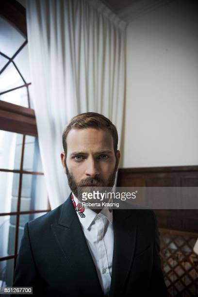 Actor Alessandro Borghi is photographed on August 31 2017 in Venice Italy