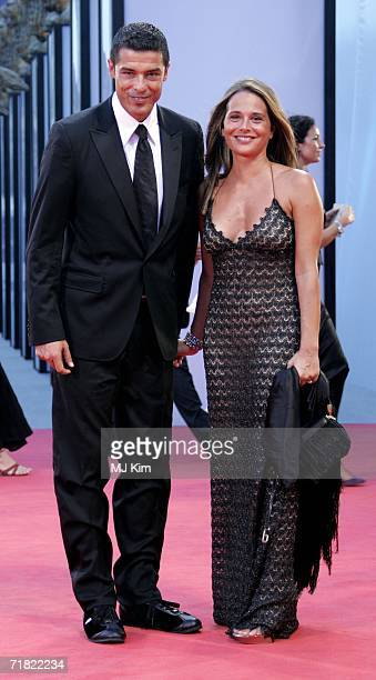 Actor Alessandro Gassman and wife actress Sabrina Knaflitz attend the premiere of the film 'Nuovomondo during the tenth day of the 63rd Venice Film...
