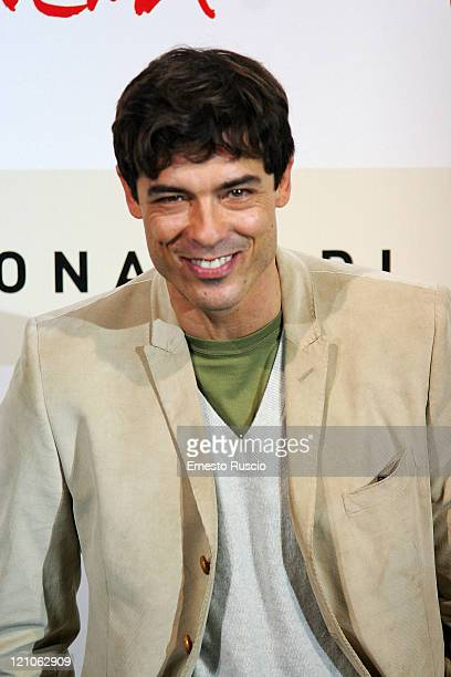 Actor Alessandro Gassman son of Vittorio Gassman attends a photocall for film Un principe chiamato Toto at Auditorium during Cinema Fest of Rome on...