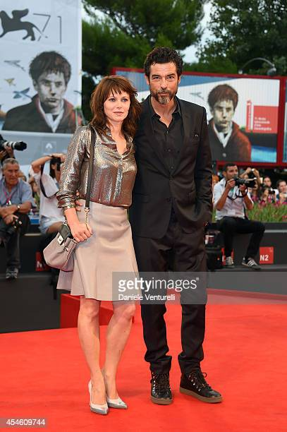 Actor Alessandro Gassmann and actress Barbora Bobulova attends 'I Nostri Ragazzi' Premiere during the 71st Venice Film Festival at Sala Perla on...