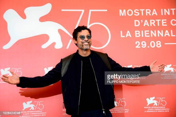 Actor Alessandro Gassmann attends a photocall for the film 'Una Storia senza Nome' presented out of competition on September 7 2018 during the 75th...