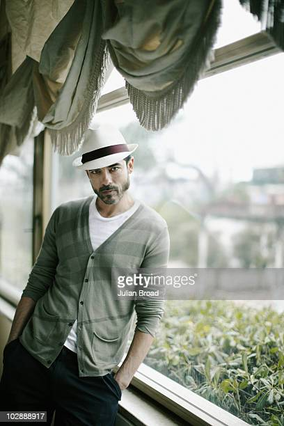 Actor Alessandro Gassmann poses for a portrait shoot in Milan on March 11 2010