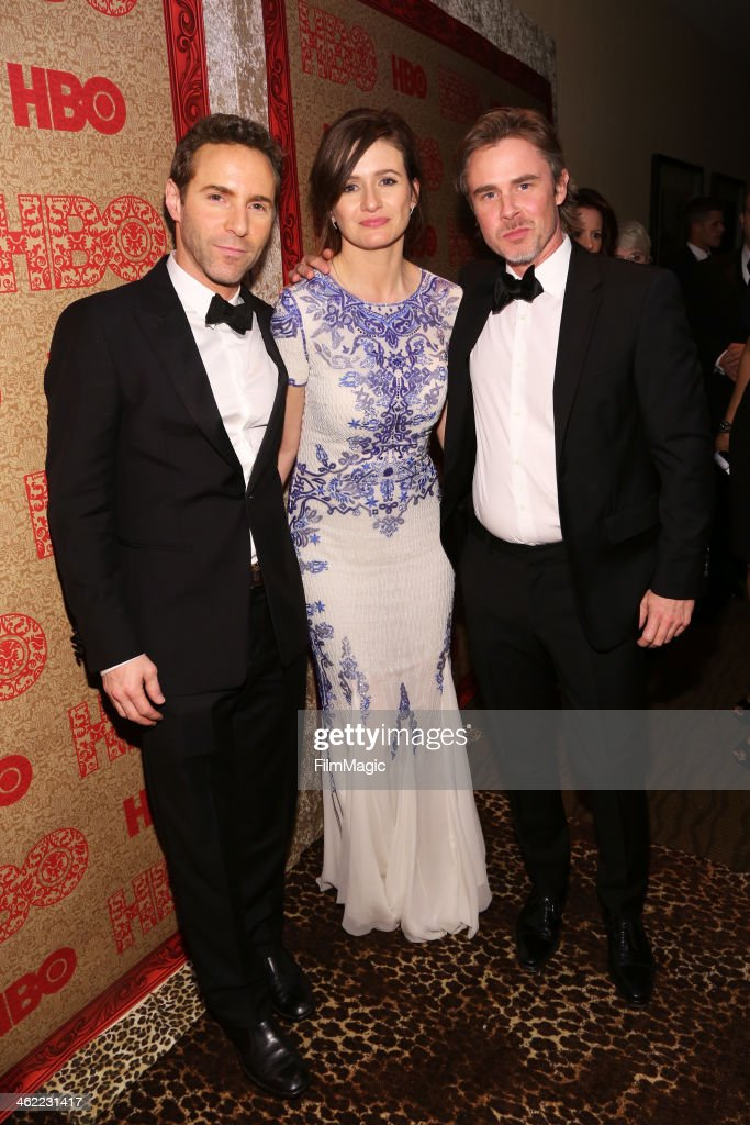 Actor Alessandro Nivola, actress Emily Mortimer and actor Sam Trammell attend HBO's Official Golden Globe Awards After Party at The Beverly Hilton Hotel on January 12, 2014 in Beverly Hills, California.