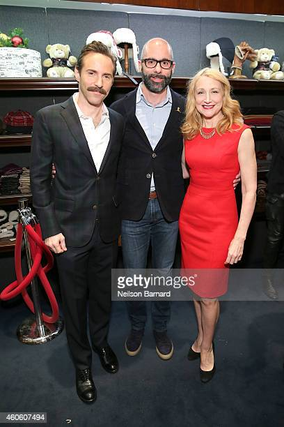 Actor Alessandro Nivola North America President of Brooks Brothers Andrea Dorigo and actress Patricia Clarkson attend as BROOKS BROTHERS Celebrates...