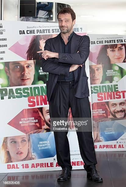 Actor Alessandro Preziosi attends 'Passione Sinistra' photocall at Cinema Adriano on April 11 2013 in Rome Italy