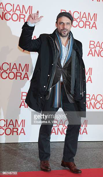 Actor Alessandro Preziosi attends the premiere of 'Baciami Ancora' at Auditorium Conciliazione on January 28 2010 in Rome Italy