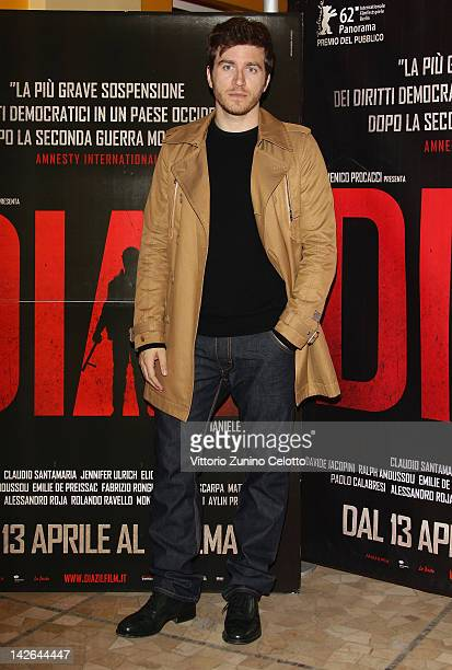 Actor Alessandro Roja attends 'Diaz Don't Clean Up This Blood' premiere on April 10 2012 in Milan Italy