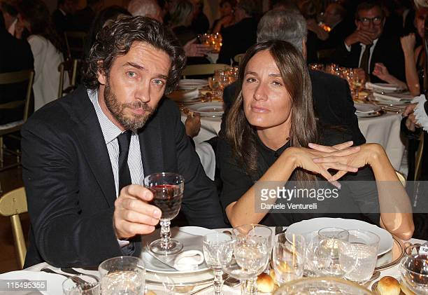 Actor Alessio Boni and Maria Sole Tognazzi attends the Gala Dinner in honour of Meryl Streep during Day 9 of the 4th International Rome Film Festival...