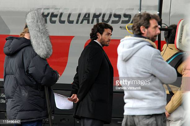 Actor Alessio Boni is seen at the Piazzale della Stazione filming on location for 'The Tourist' on March 17 2010 in Venice Italy
