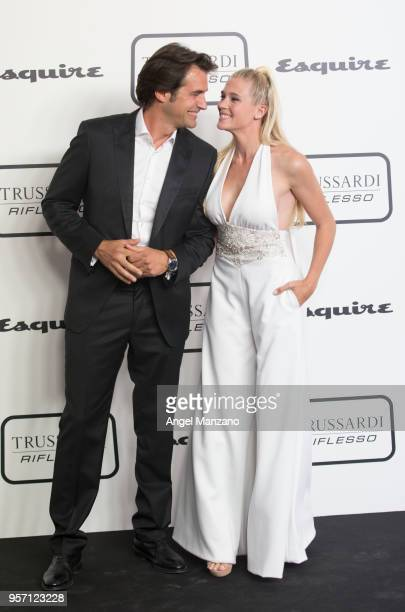 Actor Alex Adrover and actress Patricia Montero attend new fragrance Riflesso de Trussardi launching party at Palacio de Santa Coloma on May 10 2018...