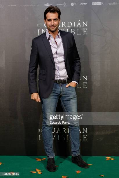 Actor Alex Adrover attends the 'El guardian invisible' premiere at Capitol cinema on March 1 2017 in Madrid Spain