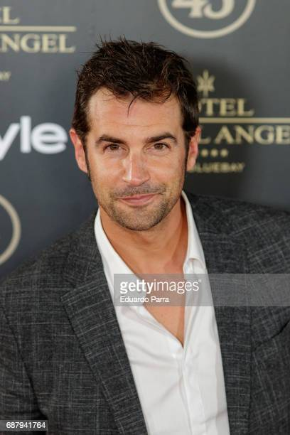 Actor Alex Adrover attends the 'El Jardin del Miguel Angel' party photocall at Miguel Angel hotel on May 24 2017 in Madrid Spain