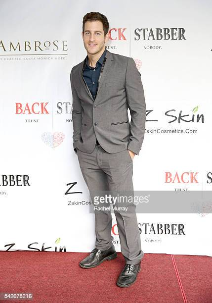 Actor Alex Alsina attends the red carpet premiere for the new Amazon series 'Back Stabber' at the Ambrose Boutique Hotel on June 23 2016 in Santa...