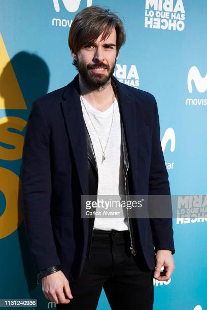 Actor Alex Barahona attends 'Mira lo que has Hecho' second season premiere at the Capitol cinema on February 21 2019 in Madrid Spain