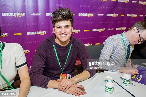 Actor Alex Boniello attends BroadwayCon 2016 at the New York Hilton Midtown on January 22 2016 in New York City