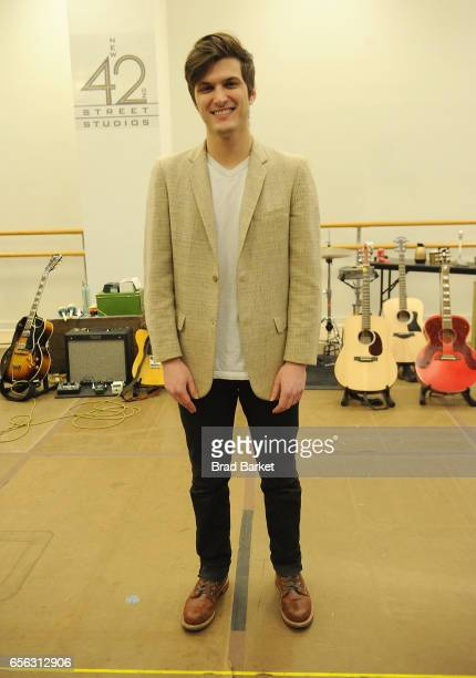 Actor Alex Boniello attends the Million Dollar Quartet cast photocall at The New 42nd Street Studios on March 21 2017 in New York City