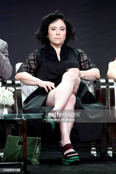 Actor Alex Borstein of 'The Marvelous Mrs Maisel' speaks onstage during the Amazon Studios portion of the Summer 2018 TCA Press Tour at The Beverly...
