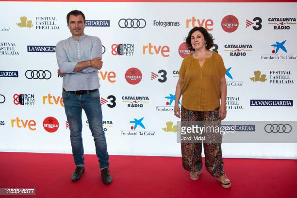 Actor Alex Brendemuhl and BCN Film Festival director Conxita Casanova attend El Buzo premiere photocall during BCN Film Festival at Verdi Park Cinema...