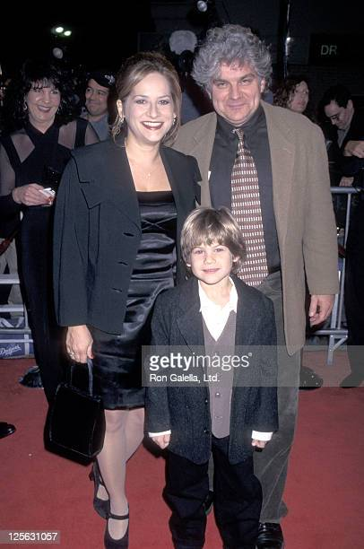 Actor Alex D Linz and parents Deborah Baltaxe and Daniel Linz attend the 'One Fine Day' Westwood Premiere on December 17 1996 at Mann Village Theatre...