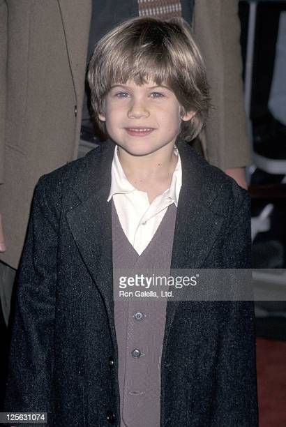 Actor Alex D Linz attends the 'One Fine Day' Westwood Premiere on December 17 1996 at Mann Village Theatre in Westwood California