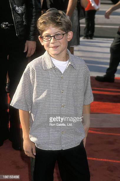 Actor Alex D Linz attends the 'Titan AE' Los Angeles Premiere on June 13 2000 at Staples Center in Los Angeles California