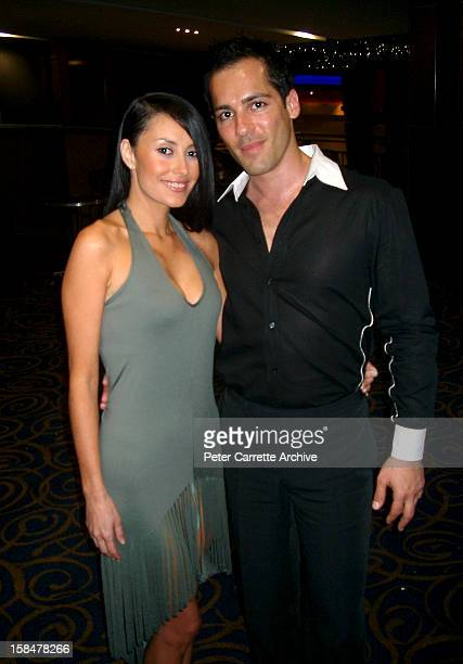 Actor Alex Dimitriades and his girlfriend Terri Biviano attend the premiere of his new film 'Let's Get Skase' on October 15 2001 in Sydney Australia