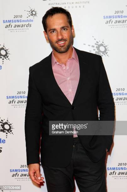 Actor Alex Dimitriades arrives at the 2010 Samsung Mobile AFI Industry Awards at the Regent Theatre on December 10 2010 in Melbourne Australia