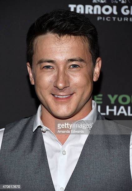 Actor Alex Frost arrives at the Los Angeles premiere of 'See You In Valhalla' at the ArcLight Cinemas on April 21 2015 in Hollywood California