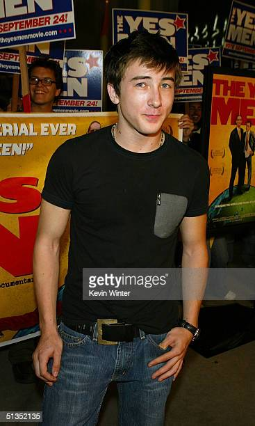 Actor Alex Frost arrives to the premiere of United Artists' film The Yes Men on the opening night of the Silver Lake Film Festival at the ArcLight...