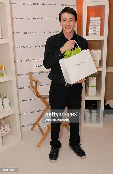 Actor Alex Frost attends The Belvedere Luxury Lounge in honor of the 80th Academy Awards featuring Rembrandt held at the Four Seasons Hotel on...
