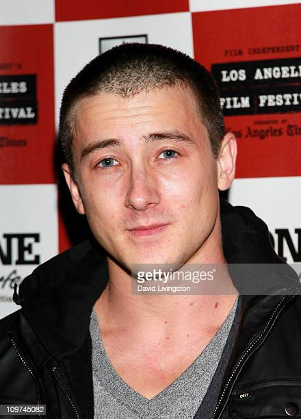 Actor Alex Frost poses during the 'Secrets Of The Tribe' QA during the 2010 Los Angeles Film Festival at Regal Cinemas at LA Live Downtown on June 25...