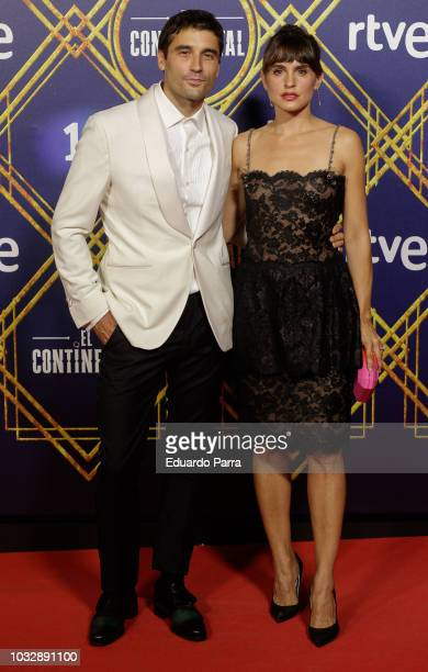 Actor Alex Garcia and actress Veronica Echegui attend the 'El Continental' premiere at Callao cinema on September 13 2018 in Madrid Spain