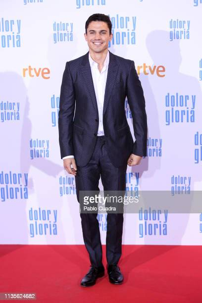 Actor Alex Gonzalez attends the 'Dolor y Gloria' premiere at Capitol cinema on March 13 2019 in Madrid Spain