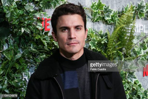 Actor Alex Gonzalez attends the Triple Frontier premiere at Callao Cinema on March 06 2019 in Madrid Spain