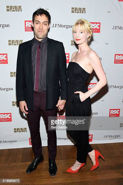 "Actor Alex Hassell and Actress Emma King attend the Benefit Celebration Honoring Royal Shakespeare Company's ""King & Country"" at BAM Lepercq Space on..."