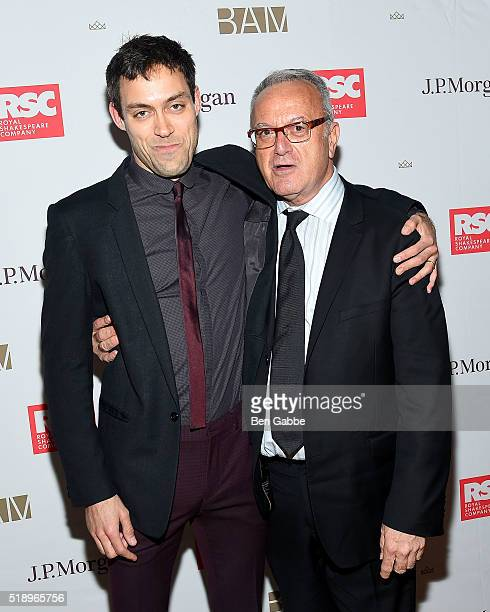 "Actor Alex Hassell and BAM executive producer Joe Melillo attend the Benefit Celebration Honoring Royal Shakespeare Company's ""King & Country"" at BAM..."