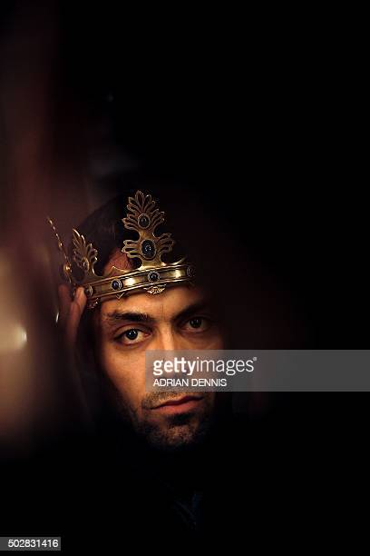 Actor Alex Hassell poses for a photograph in his dressing room at The Barbican Theatre in London on November 10 2015 Britain's Royal Shakespeare...