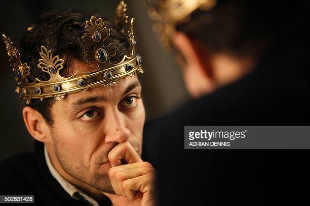 Actor Alex Hassell poses for a photograph in his dressing room at The Barbican Theatre in London on November 10, 2015. Britain's Royal Shakespeare...