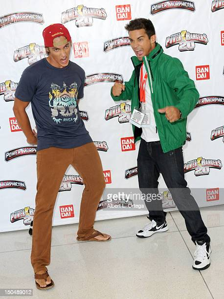 Actor Alex Heartman and actor Hector David Jr participate in the 2012 Power Morphicon 3 held at the Pasadena Convention Center on August 19 2012 in...