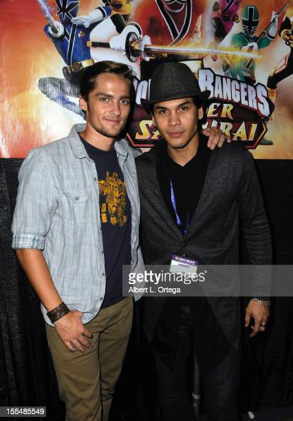 Actor Alex Heartman and actor Steven Skyler of 'Power Rangers Samurai' attend 2012 Long Beach Comic And Horror Con held at Long Beach Convention...