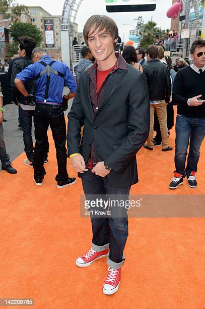 Actor Alex Heartman arrives at the 2012 Nickelodeon's Kids' Choice Awards at Galen Center on March 31 2012 in Los Angeles California
