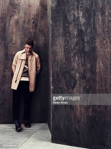 Actor Alex Høgh Andersen is photographed on July 25, 2017 for Vulken magazine in Los Angeles, California.