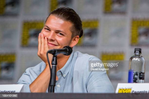 Actor Alex Hogh Andersen attends the Vikings panel at ComicCon International on July 20 2018 in San Diego California