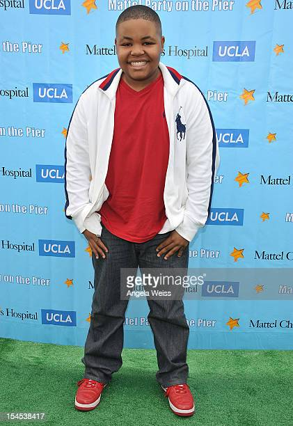Actor Alex Jones arrives to the 'Mattel Party on the Pier' benefiting Mattel Children's Hospital UCLA at Pacific Park on the Santa Monica Pier on...
