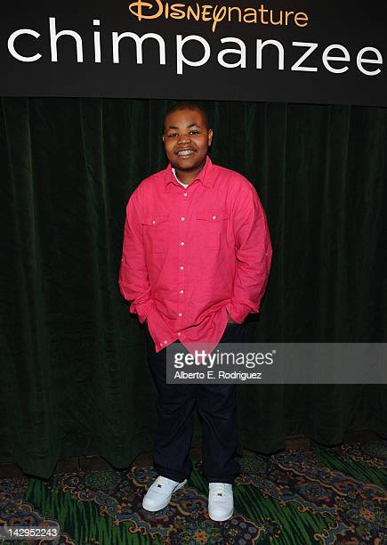 Actor Alex Jones attends a VIP screening of Disney Nature's 'Chimpanzee' at the El Capitan Theatre on April 15 2012 in Hollywood California