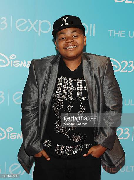 Actor Alex Jones attends Day 2 of Disney's D23 Expo 2011 at the Anaheim Convention Center on August 20 2011 in Anaheim California