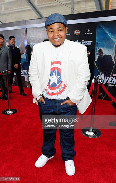 Actor Alex Jones attends the premiere of Marvel Studios' 'Marvel's The Avengers' held at the El Capitan Theatre on April 11 2012 in Hollywood...