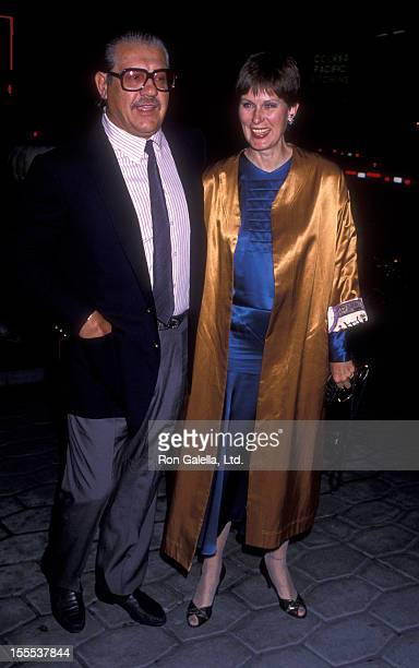 Actor Alex Karras and actress Susan Clark attends the party for Double ExTake Two on October 23 1989 at the St James Club in Beverly Hills California