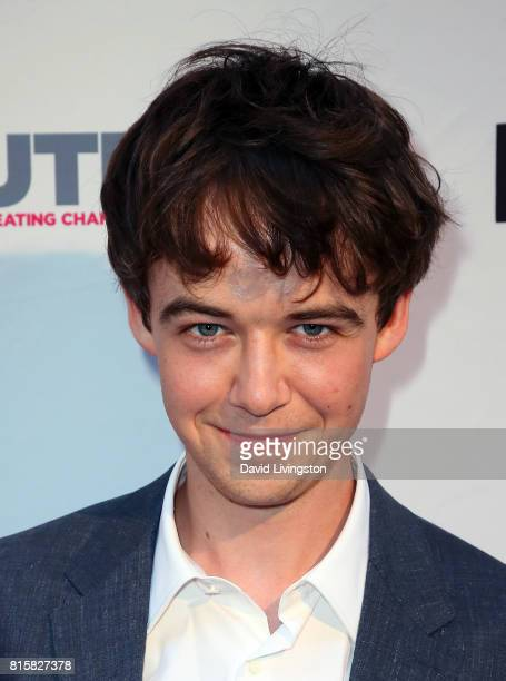 Actor Alex Lawther attends the 2017 Outfest Los Angeles LGBT Film Festival closing night gala screening of 'Freak Show' at The Theatre at Ace Hotel...