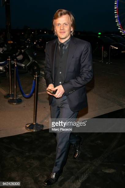 Actor Alex Lutz arrives to attend the 'Madame Figaro' dinner at Automobile Club de France on April 5 2018 in Paris France